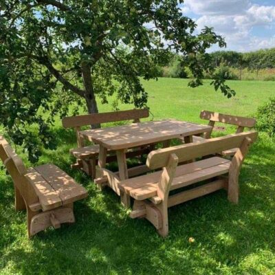 SOLID OAK GARDEN / DINING / KITCHEN FURNITURE