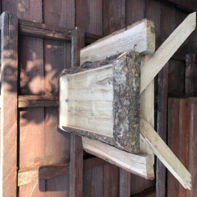 Unique Rustic Oak Bird / Squirrel Picnic Bench Feeder