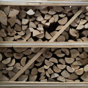 """Kiln Dried Ash 10"""" Logs in Crate plus a FREE JUMBO BAG KINDLING & SAMBA FIRELIGHTERS (64) Best value in the UK"""