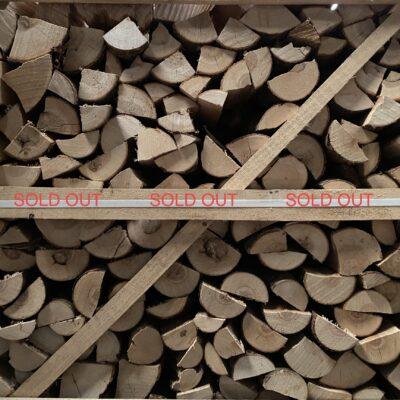 "Kiln Dried Ash 10"" Logs in Crate plus a FREE JUMBO BAG KINDLING & SAMBA FIRELIGHTERS (64)"